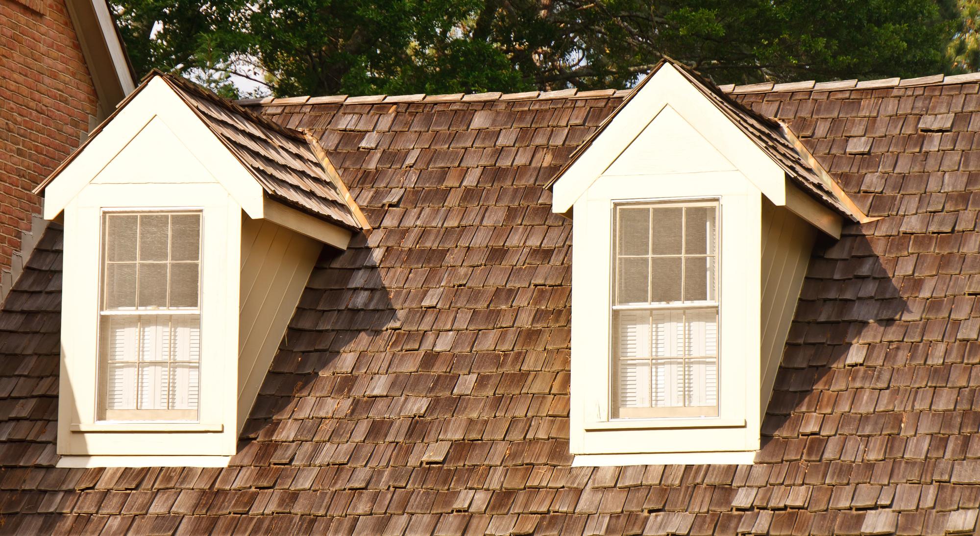 Wood Shingle Roof with Dormers