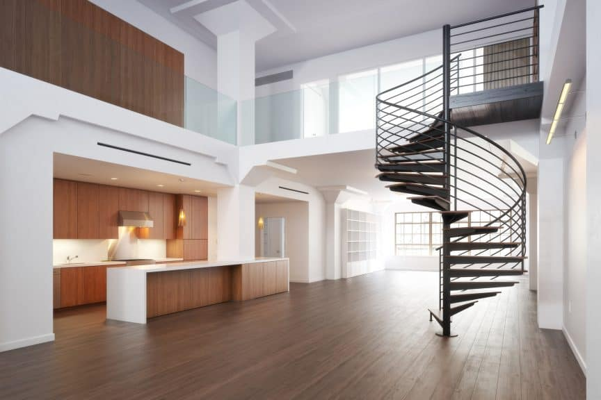 Spiral Staircase Within Dwelling