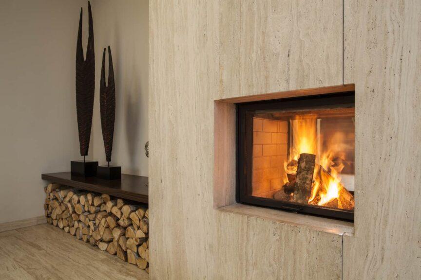 Wood Burining Fireplace